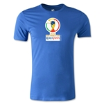 2002 FIFA World Cup Logo Men's Fashion T-Shirt (Royal)