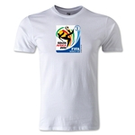 2010 FIFA World Cup Logo Men's Fashion T-Shirt (White)