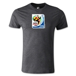 2010 FIFA World Cup Logo Men's Fashion T-Shirt (Dark Gray)