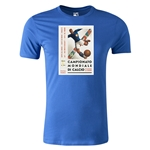 1934 FIFA World Cup Historical Poster Men's Fashion T-Shirt (Royal)