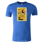 1958 FIFA World Cup Historical Poster Men's Fashion T-Shirt (Royal)