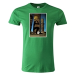 1986 FIFA World Cup Historical Poster Men's Fashion T-Shirt (Green)