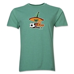1986 FIFA World Cup Pique Mascot Men's Fashion T-Shirt (Heather Green)