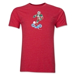 1990 FIFA World Cup Ciao Mascot Men's Fashion T-Shirt (Heather Red)