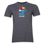 1998 FIFA World Cup Footix Mascot Men's Fashion T-Shirt (Dark Gray)