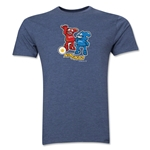 2002 FIFA World Cup Kaz & Nik Mascot Logo Men's Fashion T-Shirt (Blue)