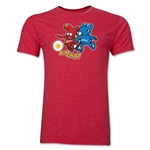 2002 FIFA World Cup Kaz & Nik Mascot Logo Men's Fashion T-Shirt (Heather Red)