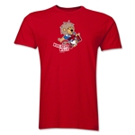 1966 FIFA World Cup Willie Mascot Logo Men's Fashion T-Shirt (Red)