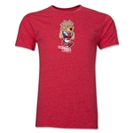 1966 FIFA World Cup Willie Mascot Logo Men's Fashion T-Shirt (Heather Red)