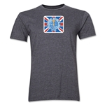 1966 FIFA World Cup England Men's Premium Historical Poster T-Shirt (Dark Grey)
