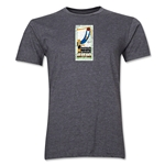 1930 FIFA World Cup Uruguay Men's Premium Historical Poster T-Shirt (Dark Grey)