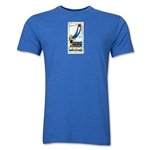 1930 FIFA World Cup Uruguay Men's Premium Historical Poster T-Shirt (Heather Royal)