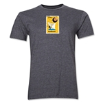 1958 FIFA World Cup Sweden Men's Premium Historical Poster T-Shirt (Dark Grey)