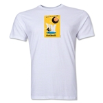 1958 FIFA World Cup Sweden Men's Premium Historical Poster T-Shirt (White)