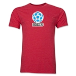 1970 FIFA World Cup Mexico Men's Premium Historical Poster T-Shirt (Heather Red)