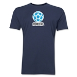 1970 FIFA World Cup Mexico Men's Premium Historical Poster T-Shirt (Navy)