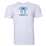 1978 FIFA World Cup Argentina Men's Premium Historical Poster T-Shirt (White)