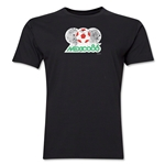 1986 FIFA World Cup Mexico Men's Premium Historical Poster T-Shirt (Black)
