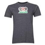 1986 FIFA World Cup Mexico Men's Premium Historical Poster T-Shirt (Dark Grey)