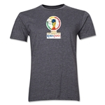 2002 FIFA World Cup Korea Japan Men's Premium Historical Poster T-Shirt (Dark Grey)