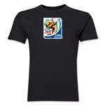 2010 FIFA World Cup South Africa Men's Premium Historical Poster T-Shirt (Black)