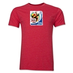 2010 FIFA World Cup South Africa Men's Premium Historical Poster T-Shirt (Heather Red)