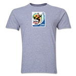 2010 FIFA World Cup South Africa Men's Premium Historical Poster T-Shirt (Grey)