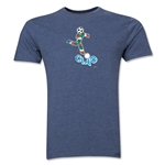1990 FIFA World Cup Ciao Men's Mascot Logo T-Shirt (Blue)