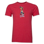 1994 FIFA World Cup Striker Men's Mascot Logo T-Shirt (Heather Red)