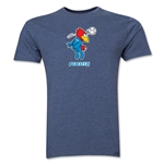 1998 FIFA World Cup Footix Men's Mascot Logo T-Shirt (Blue)