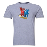 2002 FIFA World Cup Kaz & Nik Men's Mascot Logo T-Shirt (Grey)
