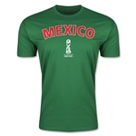 Mexico FIFA U-17 World Cup Chile 2015 Men's Premium T-Shirt (Green)