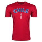 Chile FIFA U-17 World Cup Chile 2015 Men's Premium T-Shirt (Red)