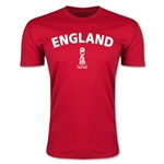 England FIFA U-17 World Cup Chile 2015 Men's Premium T-Shirt (Red)
