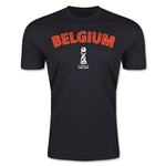 Belgium FIFA U-17 World Cup Chile 2015 Men's Premium T-Shirt (Black)