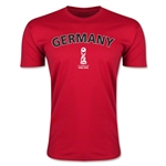 Germany FIFA U-17 World Cup Chile 2015 Men's Premium T-Shirt (Red)
