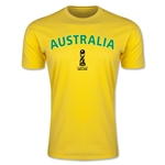 Australia FIFA U-17 World Cup Chile 2015 Men's Premium T-Shirt (Yellow)