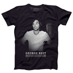 George Best Pixel Men's Fashion T-Shirt (Black)