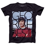 George Best Color Men's Fashion T-Shirt (Black)