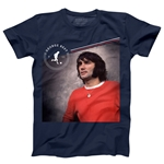 George Best Distressed Men's Fashion T-Shirt (Navy)