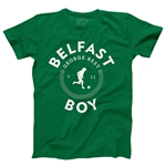 George Best Belfast Boy Men's Fashion T-Shirt (Green)