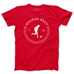 George Best Graphic Men's Fashion T-Shirt (Red)