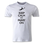Keep Calm and Parry On Men's Fashion T-Shirt (White)