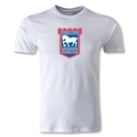 Ipswich Crest Men's Fashion T-Shirt (White)