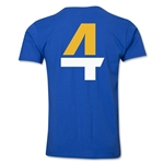 Leicester City Player Number 4 T-Shirt (Royal)