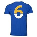 Leicester City Player Number 6 T-Shirt (Royal)