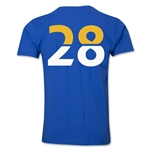 Leicester City Player Number 28 T-Shirt (Royal)