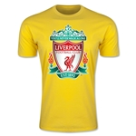 Liverpool Crest Men's Fashion T-Shirt (Yellow)