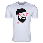 Liverpool Klopp Face Men's Fashion T-Shirt (White)