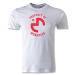 Morelia Distressed Logo Men's Fashion T-Shirt (White)